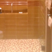 2-Panel Frameless Shower Enclosure Glass Tile